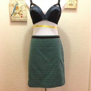 Banana Republic 0 Houndstooth Velvet A line skirt